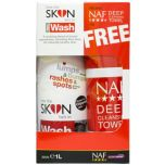 NAF Love The Skin He's In Wash 1 Litre + Free Deep Cleansing Towel