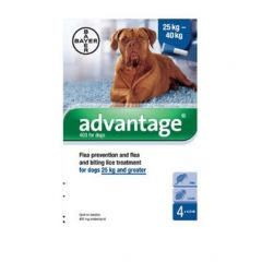 Advantage 400 Spot-On for Dogs Weighing 25kg and Above