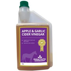 Global Herbs Garlic & Apple Cider Vinegar 1 Litre