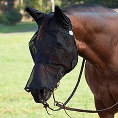 Cashel Crusader Quietride Fly Mask with Ears & Long Nose (Equine)