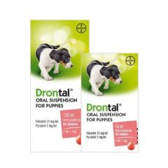 Drontal Oral Suspension for Puppies 50ml & 100ml