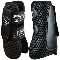 Equilibrium Products Tri-Zone Open Fronted Tendon Boots - Black (Equine)