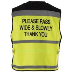Equisafety Please Pass Wide & Slowly Air Waistcoat (Human/Equine)