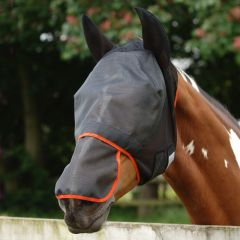 Equilibrium Products Field Relief Max Fly Mask - Grey with Yellow Trim