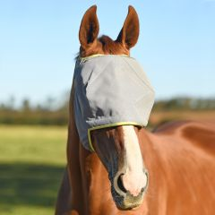 Equilibrium Products Midi Fly Mask (No Ears) - Grey with Yellow Trim