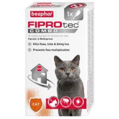 Beaphar FIPROtec COMBO for Cats (Feline)-1 Pipette