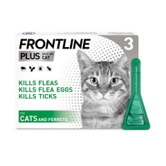Frontline Spot On Plus for Cats & Ferrets - 3 Pipette