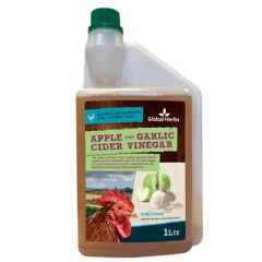 Global Herbs Apple & Garlic Cider Vinegar for Chickens 1l