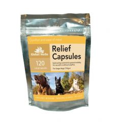 Global Herbs Relief 60 Capsules or 120 Capsules (120 Capsules Pictured)