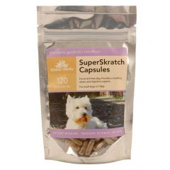 Global Herbs Super Skratch 60 or 120 Capsules Small Dog (120 Capsules Small Dog Pictured)
