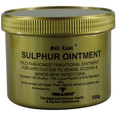 Gold Label Old Fashioned Sulphur Ointment 500g (Equine)