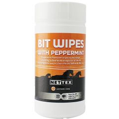 Nettex Bit Clean Wipes with Peppermint 50 Pack (Equine) - BEST BEFORE 08/2021 10% OFF