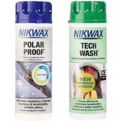 Nikwax Tech Wash/Polar Proof Twin Pack 2x300ml (Human)