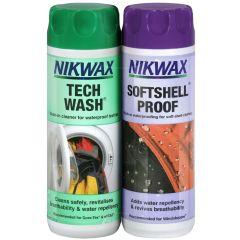 Nikwax Tech Wash/Softshell Proof Twin Pack 2x300ml (Human)