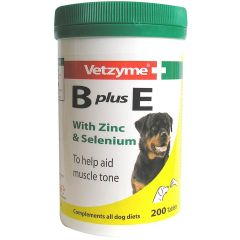 Vetzyme B Plus E Tablets 200 Pack (Canine)