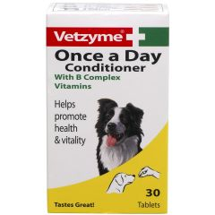Vetzyme Once A Day Conditioning Tablets 30 Pack (Canine)