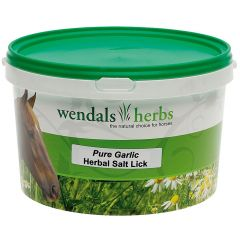 Wendals Herbs Pure Garlic Herbal Salt Lick 3.5kg (Equine)