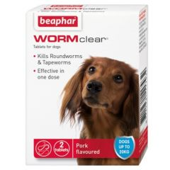 Beaphar WORMclear for Dogs (Canine)-Up to 20kg